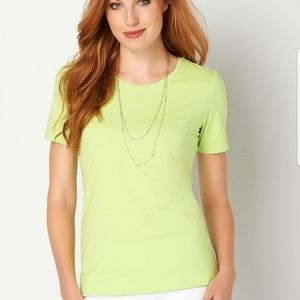 Tops - Christopher & Banks Short Sleeve Cotton Tee NWT
